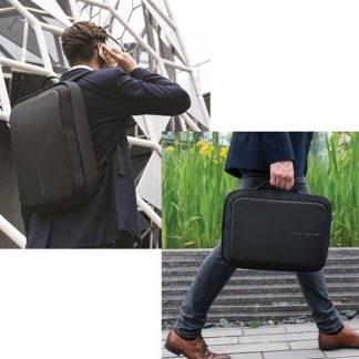 Anti-stöld datorväska / ryggsäck, Svart