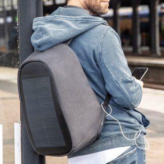 Anti-stöld ryggsäck med solpanel - Bobby Tech, Svart