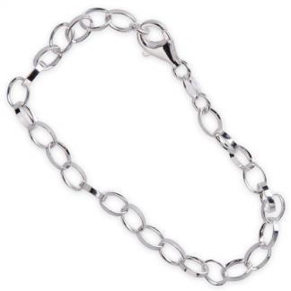 Armband 18cm för berlocker i äkta silver - Sagosmycken