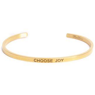 Armband med budskap - Cuff, Guld, Choose Joy