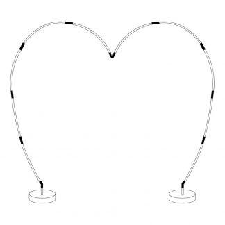 Ballongbåge Hjärtformad