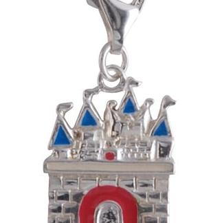 Berlock borg, äkta silver - Sagosmycken
