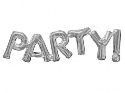 Bokstavsballong Party Silver