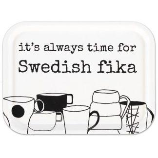 Bricka - Swedish Fika, Vit