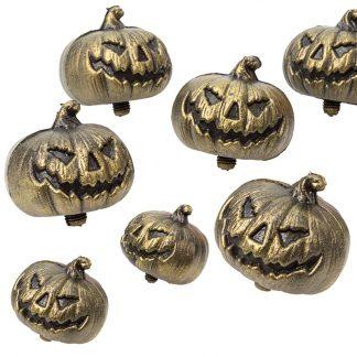 Brons Halloween Pumpor i Nät