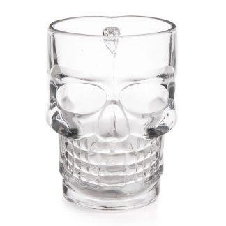 Dödskalle-Ölglas