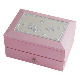 Dacapo Silver Smyckeskrin med låda (Rosa)