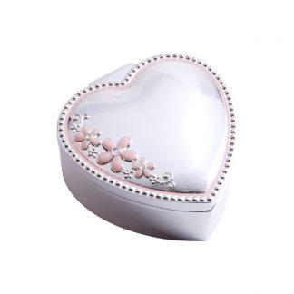 Dacapo Silver Smyckesskrin Hjärta & Blomma