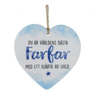 Dekorationshjärta Farfar