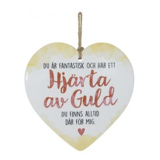 Dekorationshjärta Hjärta av Guld