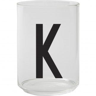Design Letters Dricksglas, K