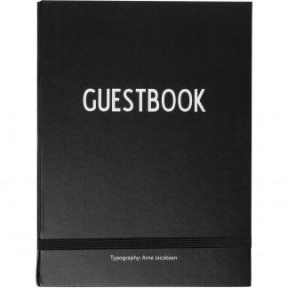 Design Letters Guestbook, Svart