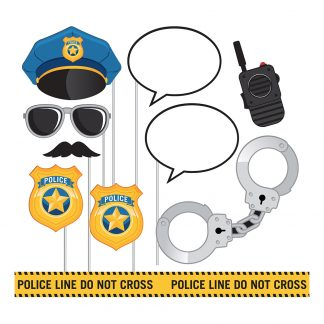 Fotoprops Police Party - 10-pack