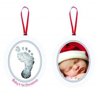 """Fotoram/Hand-, fotavtryck Jul """"Baby's 1st Christmas"""""""