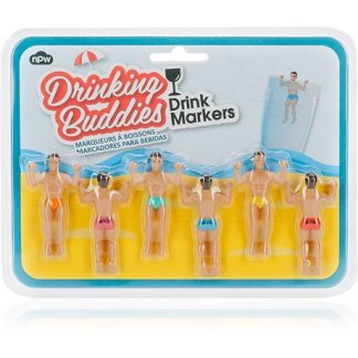 Glasmarkörer - Hunkar (6-pack), Drinking Buddies