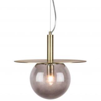 Globen Lighting Pendel Art Deco Rök