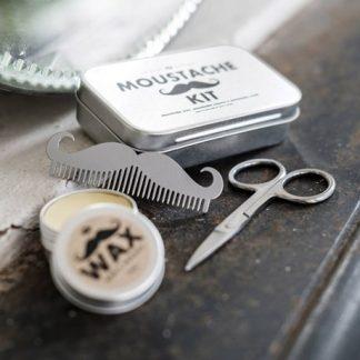Grooming-kit - Mustasch, Silver