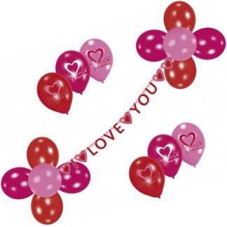 I Love You Ballongset