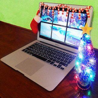 Juldekoration för skrivbordet