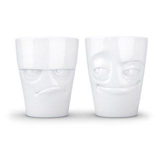 Kaffemugg med ansikte (2-pack), Butter & Lurig