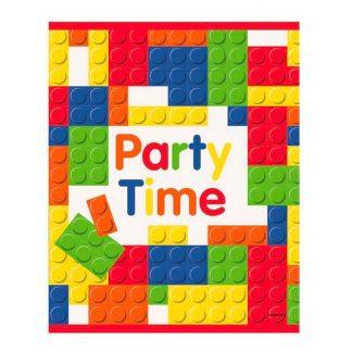 Kalaspåsar Party Time Byggklossar - 8-pack