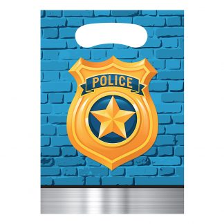 Kalaspåsar Polis Party - 8-pack