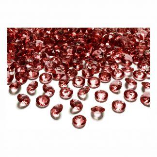 Kristalldiamanter Röd - 12 mm