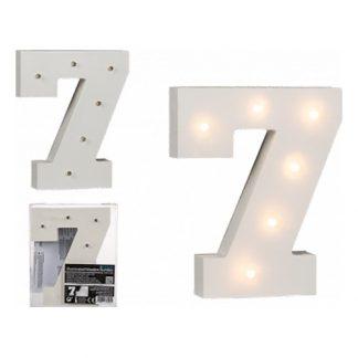 LED-Siffra i Trä Vit - Siffra 7