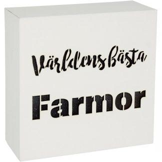 Lightbox Världens bästa Farmor