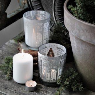 Ljuslykta Christmas Hygge - Majas lyktor/ Barncancerfonden (Vit)