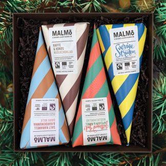Malmö Chokladfabrik - Presentlåda, chokladstrutar, Multi
