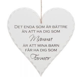 Mamma & Farmor Hjärta i Trä Hjärtan i Trä