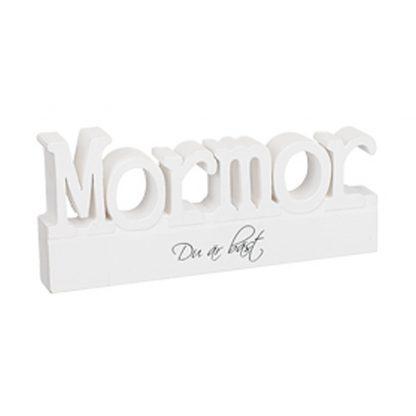 Mormor Stående bokstäver i trä Bokstäver