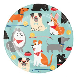 Pappersassietter Doggy Party - 8-pack