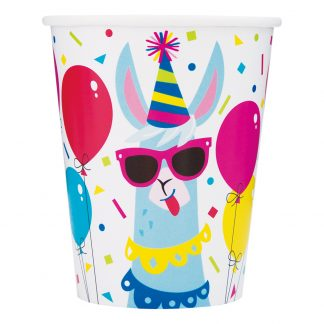 Pappersmuggar Llama Birthday Party - 8-pack 9 oz