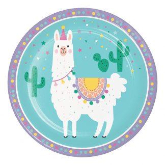 Papperstallrikar Llama Party - 8-pack