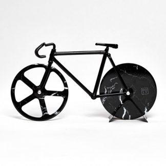 Pizzaskärare - Cykel, Svart marmor