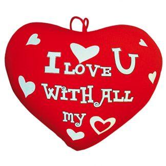 Plysch Hjärta I Love You