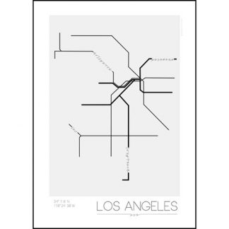 Poster - Tunnelbanor i olika städer, Los Angeles