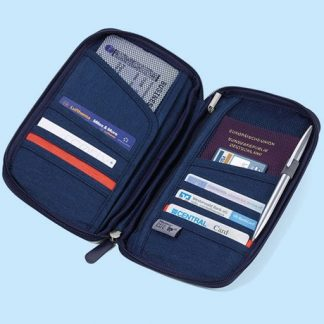 Resefodral med RFID-skydd, Blå