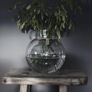 Rund glasvas, klarglas - Ernst Kirchsteiger (13 x 14cm)