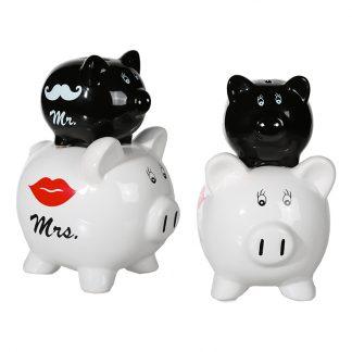 Spargris Dubbel Mr & Mrs