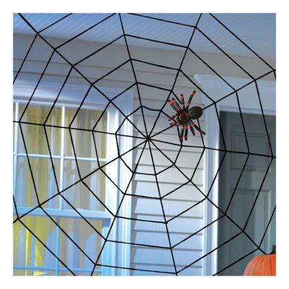 Spindelnät med Spindel Dekoration - 152 x 152 cm