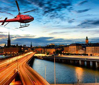 Stockholm från ovan för två
