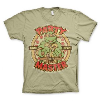 TMNT - Party Master Since 1984 T-Shirt Khaki