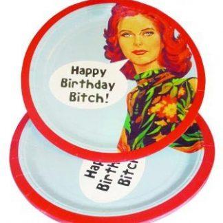 "Tallrikar ""Happy Birthday Bitch!"" , 8st"