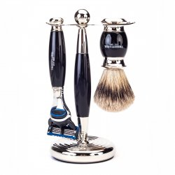 Truefitt & Hill Edwardian Shaving Set - Ebony (Gillette Fusion)