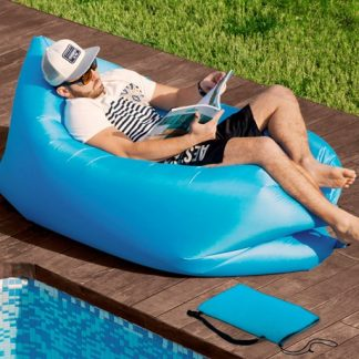 Uppblåsbar soffa / loungesäng, Blå