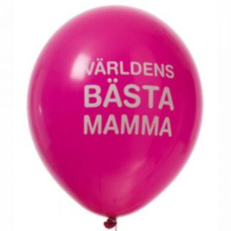 Världens Bästa Mamma Ballonger Latexballonger