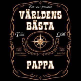 Världens bästa pappa T-shirt (Svart,Dam,5XL)